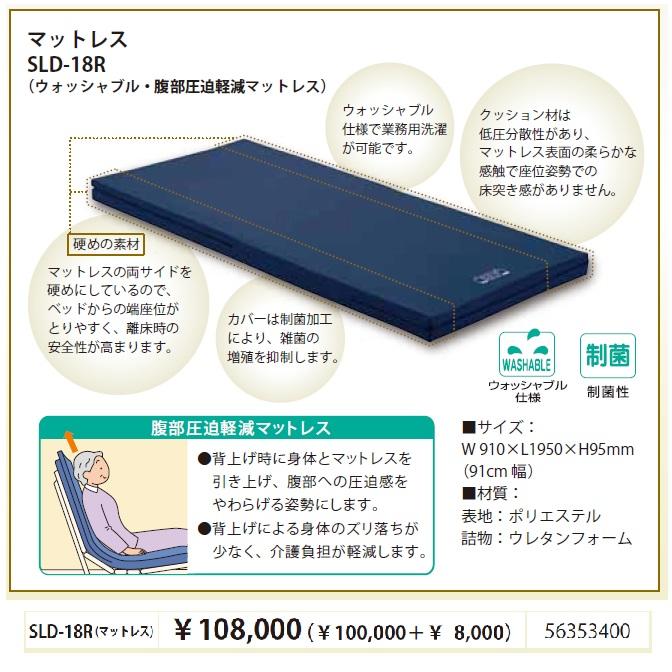 ★限定特価!フランスベッド 超低床フロアーベッド用マットレスSLD-18R