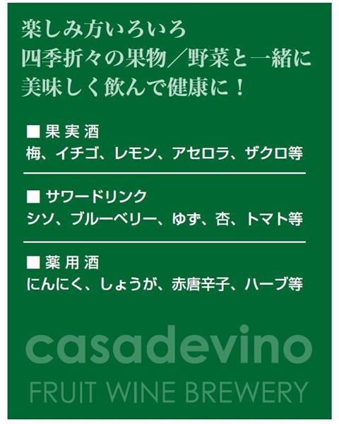 ★限定商品!【新商品】果実酒即製器「カサデビーノFW-300」