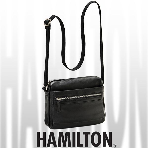 HAMILTON レザーショルダーバッグ 角型 24cm #16394