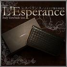 送料無料♪ もはや開運を超えた逸材の登場!【L'Esperance 編み込みラウンドファスナー長財布 (ブラック)】