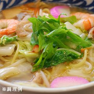 【3~4営業日以内に出荷】【送料無料】塩白湯ちゃんぽん麺120g×7食セット[粉末スープ7P付き]