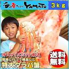 【送料無料】船上ボイル 船上凍結厳選 特大 タラバ蟹 3kg