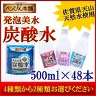 【送料無料】べっぴん本舗 発泡美水 4種類から2種類選べる 500ml×48本