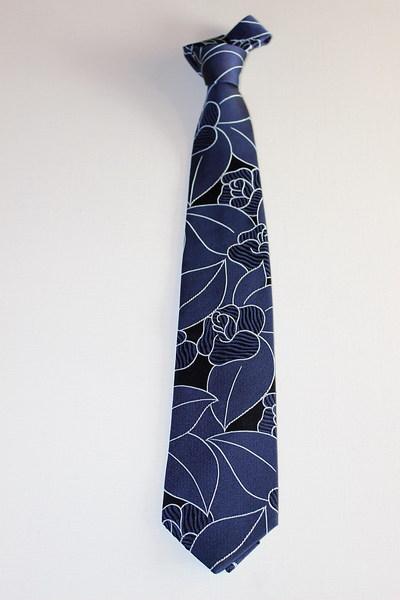 本藍染西陣織ネクタイ