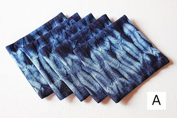 本藍染絞りコースター