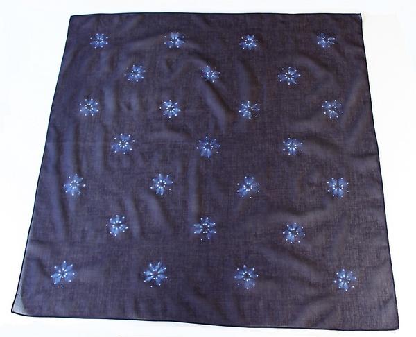本藍染絞りスカーフ70cm