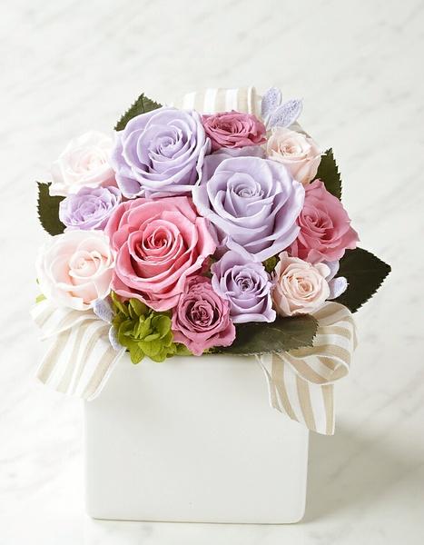 プリンセスローズの香りのプリザーブドフラワー ピンク 【フレグランス プリザーブドフラワー】通常納期 約1か月