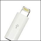 【送料無料】Salom uConnecor Adaptor from MicroUSB to Apple8pin White