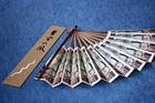 新紙幣札束扇子  (こげ茶) 袋入り