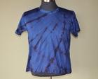 本藍染絞り半袖Tシャツ 藍濃淡