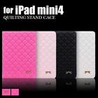 【送料無料】iPadmini4 キルティング リボン付きハート刺繍ケース