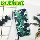 【送料無料】iPhone6/6s バナナリーフ柄ケース TPU素材
