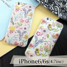 【送料無料】iPhone6/6s 花柄 浮彫デザインケース かわいい ハートくり抜き