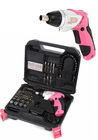 【送料無料】DIY Girls 超カワ DIY女子向け高機能電動ドライバーセット 44pcs LEDライト付 リチウム電池 ハイパワー