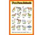 Fun Farm Animals Poster/ファン ファーム アニマルズ ポスタ-