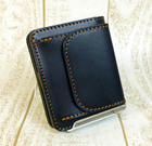 栃木レザー【ベリーシンプル二つ折れ財布】