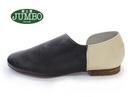 【靴工房JUMBO】バイカラーのモードなペタンコスリッポン(7201)