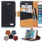 【送料無料】【FYY】iPhone SE/5S/5 対応 高級PUレザー ケースカバー