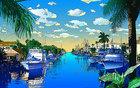 鈴木英人版画「我が心のマイアミ」