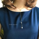 Teodora(テオドーラ) * 琉球真珠のY字フェミニン ネックレス