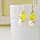 lemonade(レモネード) * ヴィンテージビーズと大粒真珠のピアスorイヤリング