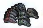 新作 CRAFTSMAN・GOLF 高級 アイアンカバー 12個セット3~9 Aw.Sw.Pw.Lw.Lw レインボー番手刺繍