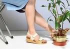 【本革】靴工房JUMBO★スポーティなキラキラサンダル(6323)