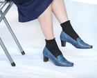 【本革】靴工房JUMBO★ローファーライクなヴィンテージパンプ(7530)