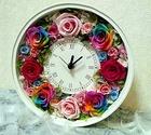 レインボーローズの花時計「La Flore:ラ フロール」 プレゼント・ギフト・贈り物