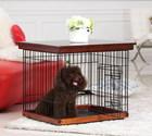 おしゃれな木製金網ペット犬ケージセット
