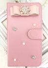 Pink Maria/スマホケース/iphoneケース/手帳型/ピンク/リボン/ビジュー/パール/お花/(iPhone X・ iPhone8・iPhone8 plus・iPhone7・iPhone7plus・iPhone6s・iPhone6s plus・iPhone6・iPhone6plus・HUAWEI・galaxyなど全機種対応)