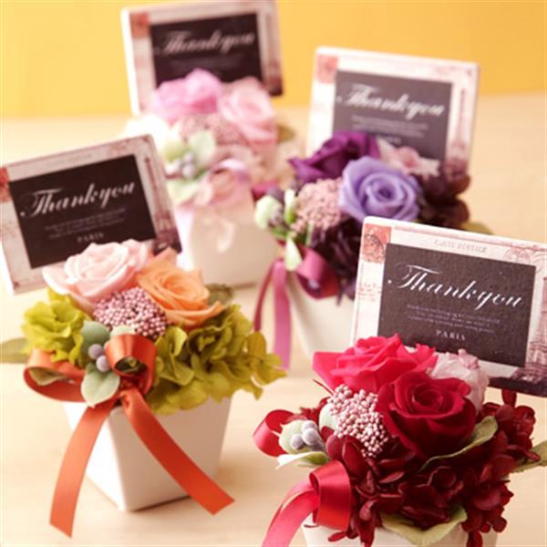 【送料無料】母の日ギフト 花とお菓子スイーツSET プリン&プリザーブドフラワー お芋プリンをプレゼントに♪ 花 ギフト【赤色の花】