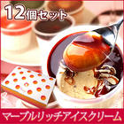 マーブルリッチアイスクリーム12個入 アイスクリ-ム 【5種類・12個入り】【free10】※ご自宅用