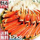 ポキッと簡単殻むき!ポッキン切り目入り茹でズワイカニ1.2kg[送料無料](かに/カニ/蟹/ずわい/ズワイ)リングカット済み