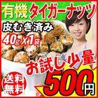 タイガーナッツ 皮なし40g×1袋(皮むき) スーパーフード 送料無料 お試し オーガニック 有機 メール便限定(M)