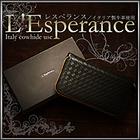 送料無料【L'Esperance 編み込みラウンドファスナー長財布】