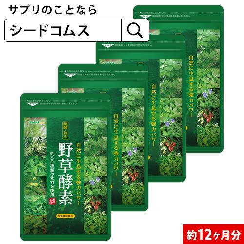 【大容量】野草酵素《約12ヵ月分》 ■メール便送料無料 ■代引・日時指定不可【1福】