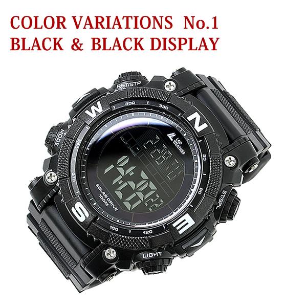ソーラーデジタル腕時計