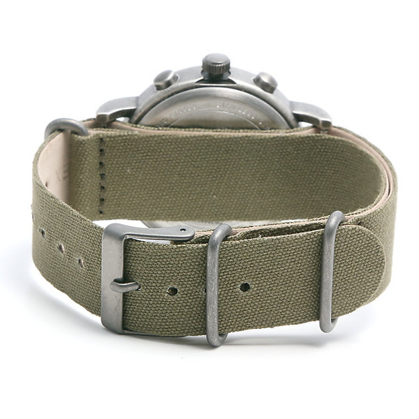 TIMEX タイメックス 腕時計 TW2P85500 WEEKENDER / ウィークエンダー ヴィンテージ クロノグラフ ミリタリーウォッチ メンズ レディース 時計 アナログ ミリタリー カジュアル カーキ アイボリー レザー 革ベルト