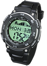 腕時計 メンズ デジタル 時計 タイドグラフ ムーンフェイズ