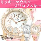 腕時計 レディース ミッキー ディズニー Disney 限定モデル 時計 スワロフスキー ミッキーマウス 女性用 時計 母の日