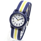 TIMEX KIDS タイメックス キッズ 腕時計 TW7C05800 ミリタリーウォッチ メンズ レディース 時計 アナログ ミリタリー カジュアル 子ども 子供 ホワイト ネイビー ストライプ