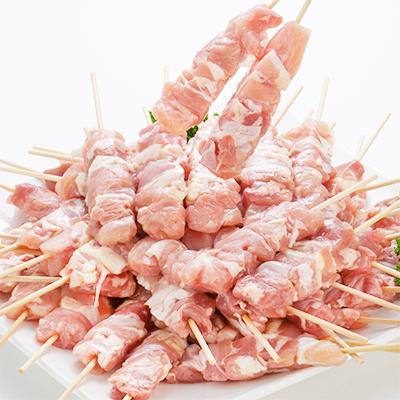 【T-2】【鶏モモ串 送料無料 BBQ】 焼鳥 鳥串【大型・生・冷凍】30g×50本【最高級 1.5kg・バーベキュー、焼き鳥】 他店では1本23g位が主流ですが【当店は1本30g】の特大サイズ!【/迄】
