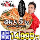 【お得な業務用/簡易包装】ボイルずわい蟹/足5kg(マガダン規格5Lサイズ/約14肩入り)[送料無料]