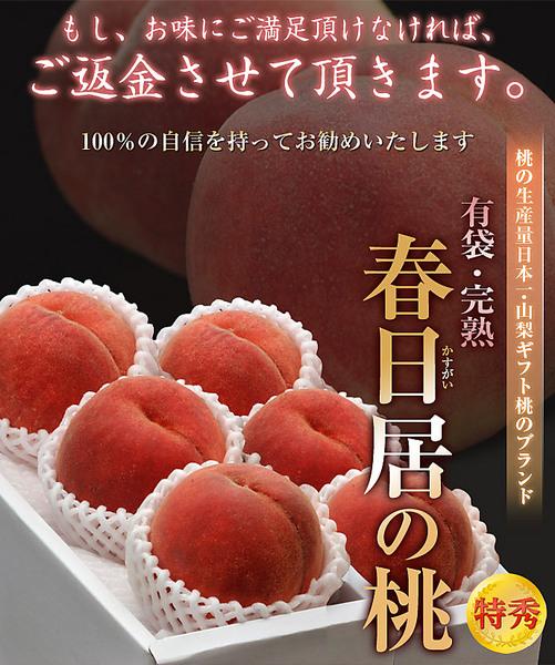 「春日居の桃」 《特秀》中玉 3玉×2箱