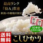 【平成28年度】新潟県産『こしひかり』 白米 10kg(5kg×2袋)201z04509