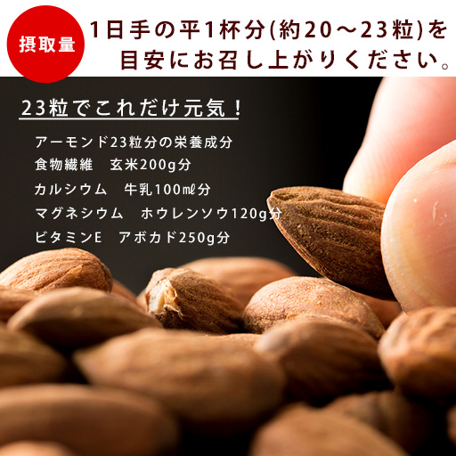 アーモンド 素焼き 1kg 無添加・無塩 送料無料