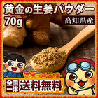 国産 しょうがパウダー 粉末 蒸し生姜 黄金のしょうが粉末70g しょうが 生姜 生姜パウダー 送料無料