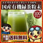 国産 有機 緑茶粉末 100g 送料無料 粉末緑茶 緑茶パウダー グリーンティー エピガロカテキンガレート