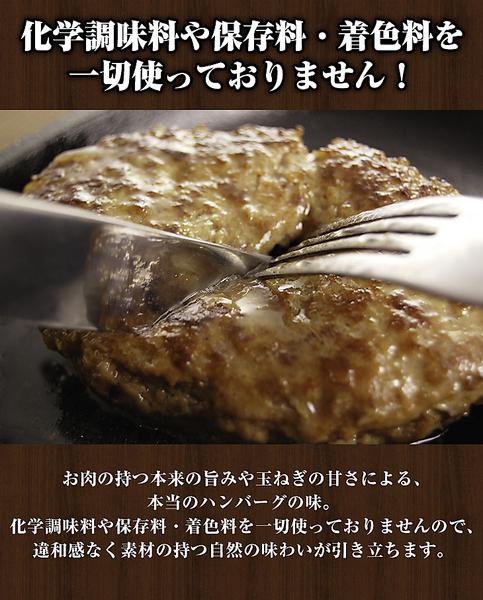 【タイムセール】<20%OFF>「無添加シリーズ」 (牛肉100%)手造り牛ハンバーグ(8人前)